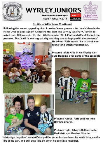 Wyrley Juniors Newsletter issue January 2015 page 2