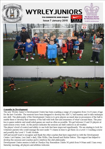 Wyrley Juniors Newsletter issue January 2015 page 5